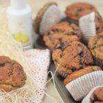 Heidelbeer und Hafer Muffins mit Azada Olivenöl und Zitrone