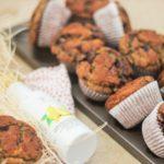 Heidelbeer Muffins mit Azada Olivenöl und Zitrone