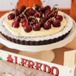 Schokolade und kirsche frangipane tart