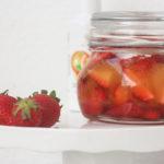 Marinierte Erdbeeren mit Orangenblüte mit Azada Olivenöl & Orange