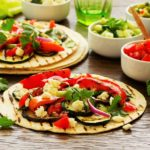 Gebackene Vegane Tacos mit Molesauce